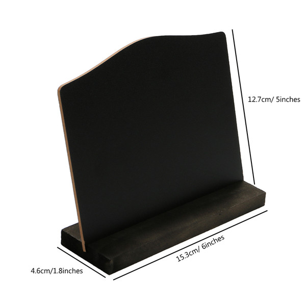 best selling A6 Table Top Blackboard Stand Menu Stand Price Display Chalk Notice Board Counter Top Bulletin Board Desk Sign Poster Stand