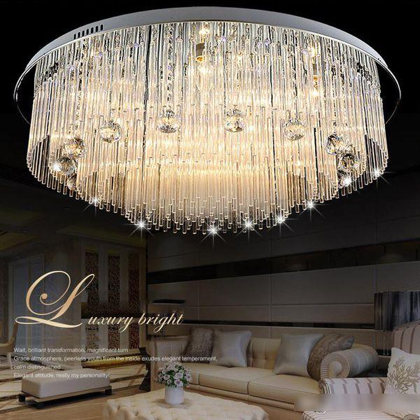 Iluminación moderna de la lámpara del cristal del LED para el comedor del dormitorio de la casa de playa, lámparas del techo del cristal de AC110-240V LED
