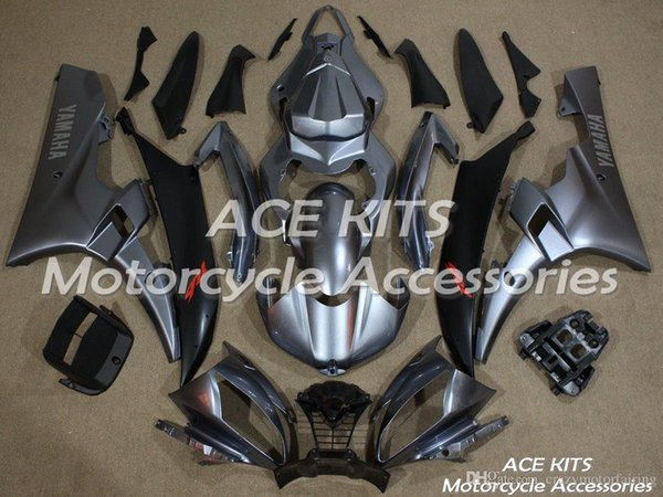 ACE KITS Motorcycle fairing For YAMAHA YZF R6 2006-2007 Injection or Compression Bodywork shocking silver NO.2254
