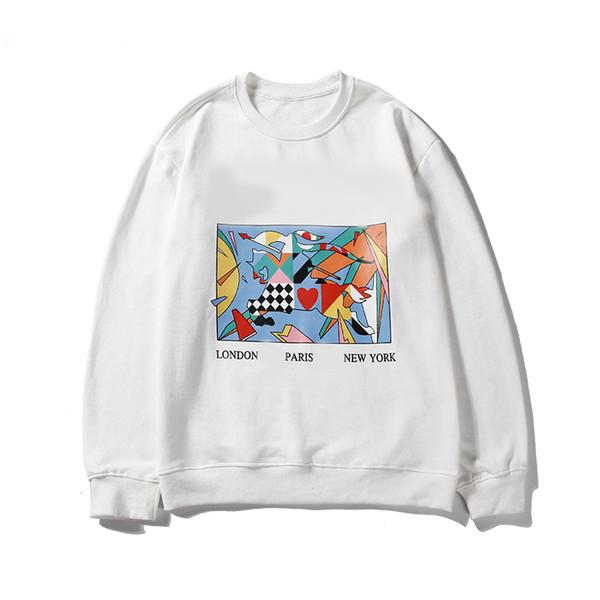 Mens Designer Sweatshirt Pullover Sport Marke Casual Marke Krieger Soldat Kartendruck 2019 Neue Ankunft Weiß Schwarz M-2XL LJJ98283