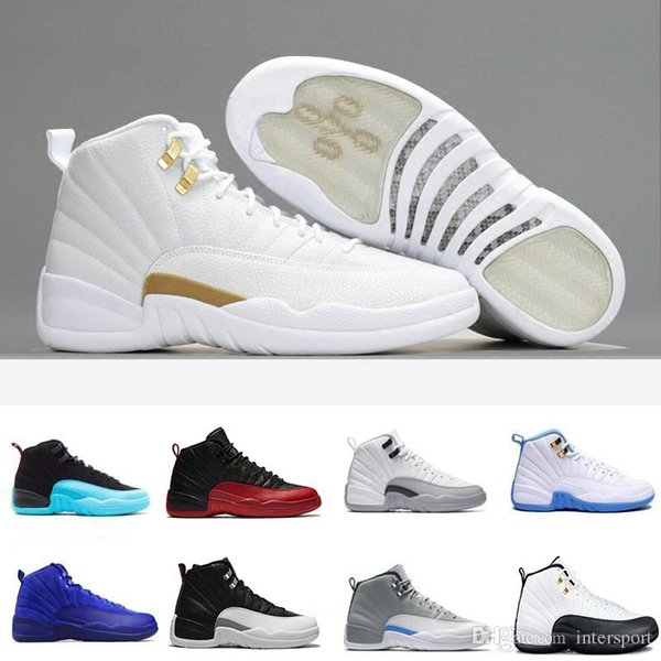 Free Shipping Super Perfect Quality 12 Flu Game French Blue The Master Men women Basketball Sport Shoes