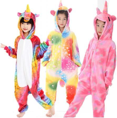 27 DESIGN Kigurumi Pajamas For Children Unicorn Anime Panda Onesie Kids Costume Sleepwear Jumpsuit Cosplay Costume Sleepwear KKA6348
