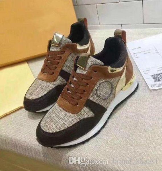 NUEVOS zapatos casuales de cuero de lujo Diseñador de las mujeres de los zapatos de los hombres zapatos de cuero genuino de moda color mezclado caja original b14