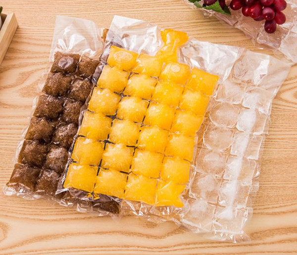 Creative Disposable Ice Cube Bags 10Pcs Frozen Juice Clear Sealed Pack Ices Making Mold Summer DIY Drinking Tray Tool SN2963