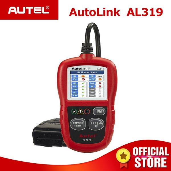 3PCS Autel AutoLink AL319 CAN OBD2 Scanner Auto Diagnostic Tool OBD 2 Code Reader OBDII Car Diagnostics AL 319 One-Click I/M