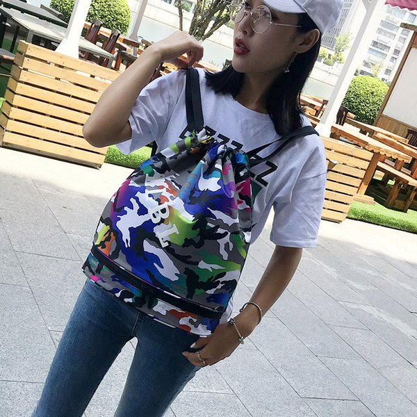 Cool2019 Light Pocket Beam Pocket impermeabile panno Oxford Take Bring Trend Motion Bucket Type Pacchetto spalle entrambe le donne
