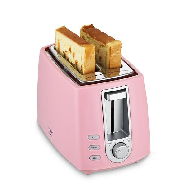 Tostadora automática para el hogar sonríe 2 rebanadas de pan tostado para el desayuno