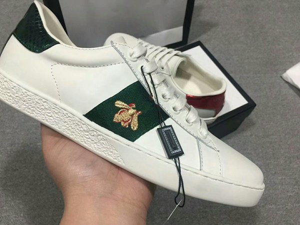 chaussures design tigre blanc chaussures d'ananas de poisson d'abeille Véritable design en cuir Sneaker Hommes Femmes Chaussures Casual 34-45 de qh18041019