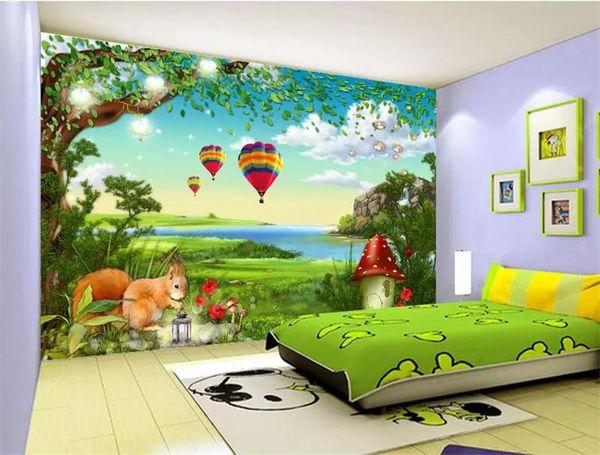 Großhandel Benutzerdefinierte Größe 3d Fototapete Kinderzimmer Wandbild  Wald Baum Elch Ölgemälde 3d Bild Sofa Tv Hintergrund Wand Tapete Vlies ...