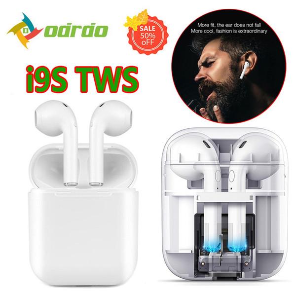 1 PCS Wireless Bluetooth i9s TWS Sport Twins Auricolari Auricolare con scatola di ricarica per tutti i telefoni PK i7s Afans i8x V8 Migliore qualità