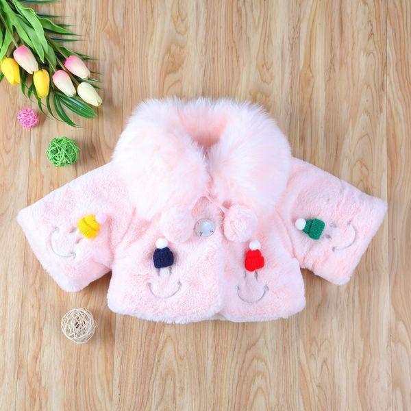 Yepyeni 2018 pudcoco Yeni Gelenler Yenidoğan Bebek Kız Kürk Sıcak Coat Bebek Çocuk Polar Ceket Yüz Şanslı Çocuk Dış Giyim Gülümseme