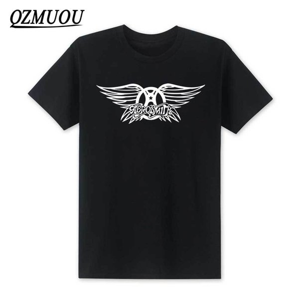 2019 New Fashion Aerosmith T Shirt New Summer Style Men Rock Band Tshirts Men Short Sleeve Cotton Rock Roll T-shirts Size Xs-xxl Y19050701