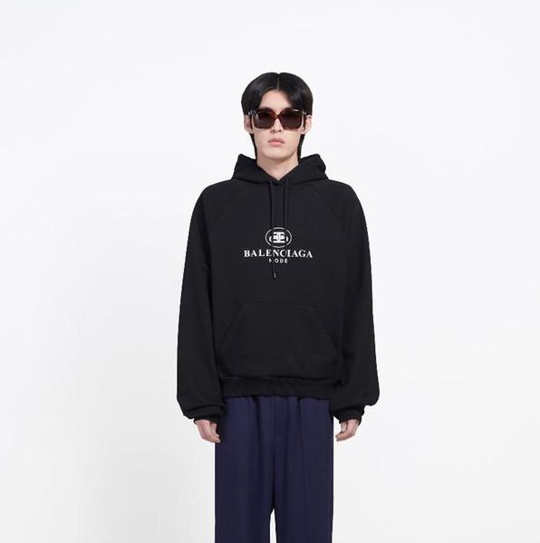 333 2019 yeni erkekler ve kadınlar dize standart klasik gevşek kolej rüzgar kapüşonlu gömlek baskılı kapüşonlu ceket kazak ücretsiz post