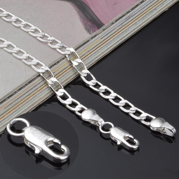 Hochwertige 12MM starke Ketten der Sterlingsilber 925 Männer 20 Zoll Silber überzogene Halsketten für Frauenart- und weiseschmucksachen