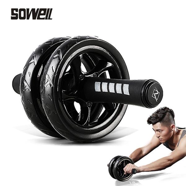 Roue abdominale avec Mat Pas de bruit Muscle roue abdominale Double roues Workouts addominali Fitness exercice Équipement d'entraînement