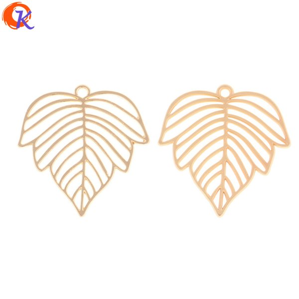 wholesale 100Pcs 28*29MM Jewelry Accessories/Earring Connectors/Leaf Shape/DIY Making/Hand Made/Earring Findings
