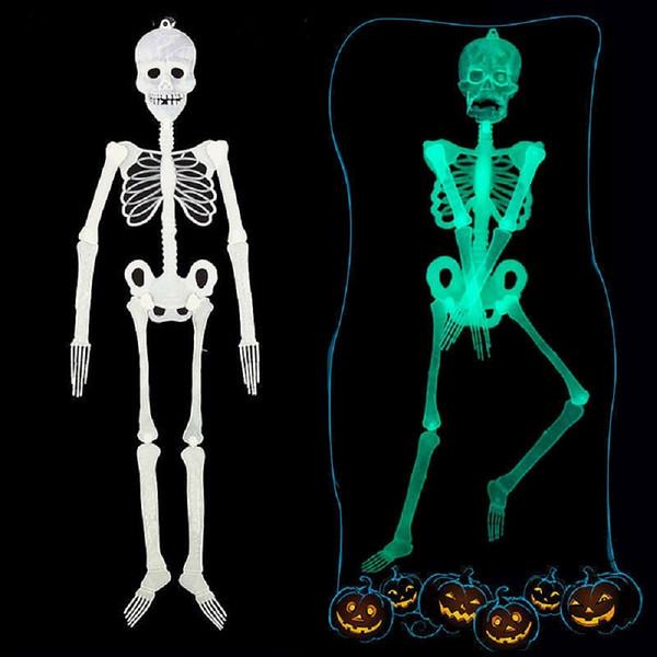 Cadılar Bayramı Korku Aydınlık Hareketli Kafatası İskeleti Cad Byr Glow Evil Parti Cadılar Bayramı arife Korku Dekorasyon 35cm Yana