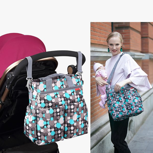 Storage Wear Resistant Multifunction Nappy Washable Waterproof With Strap Diaper Bag Multi Pocket Large Capacity Baby Stroller