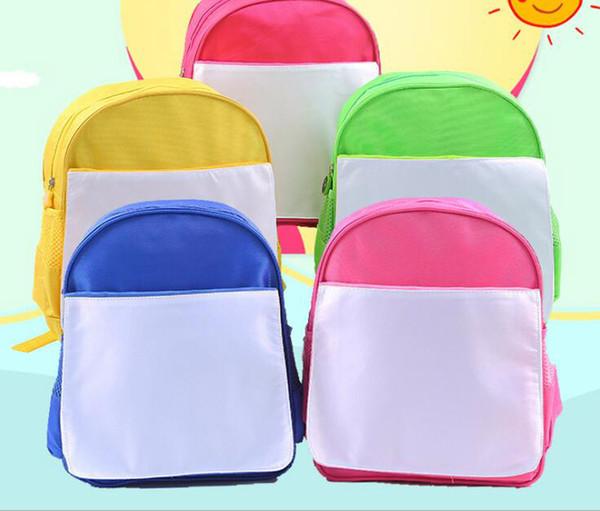 top popular 50pcs sublimation DIY blank children kids schoolbag kindergarten book bag hot transfer printing 2020