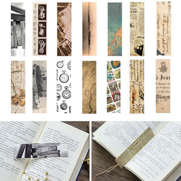 30 Teile / los Index Clips Vintage Papier Lesezeichen Für Bücher Lehrer Geschenk Koreanische Briefpapier Buchmarkierungen Schulbedarf Schreibwaren