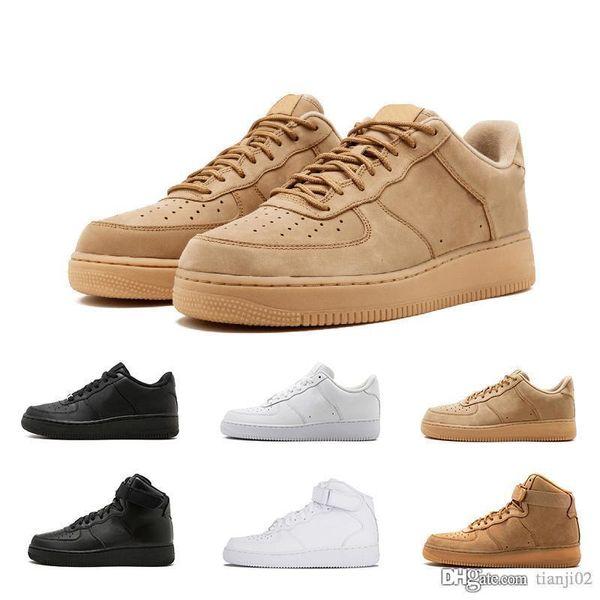 Acquista Nike Air Force 1 AF1 Con Scatola 2019 Designer Di Alta Qualità Uomo Donna Moda Scarpe Casual Bianche Nere Alte E Basse Sconto Del Marchio Una