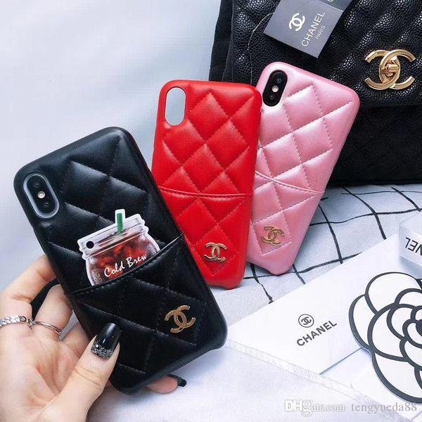 Mode leder telefon case abdeckung für iphone xsmax xr x xs 6 7 8 plus mädchen frauen designer für iphone 6 6s deckt iphone 7 8 plus fällen