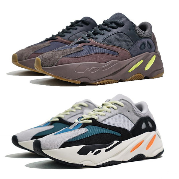 New 700 mauve running shoes mens best quality wave runner 700 Kanye West designer sneakers womens 2019 brand boots with box US5-11