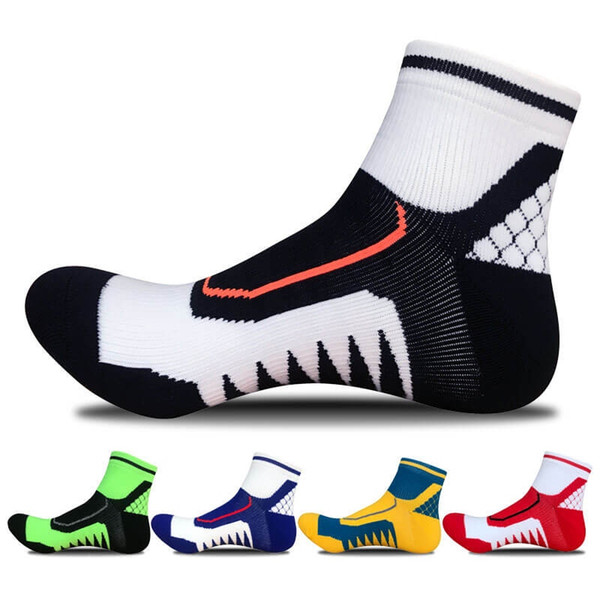 5pairs Men's Sport Socks Pressure Climbing Running Football Ankle Socks Cotton Cycling Bowling Camping Hiking Sock 5 Colors #103695