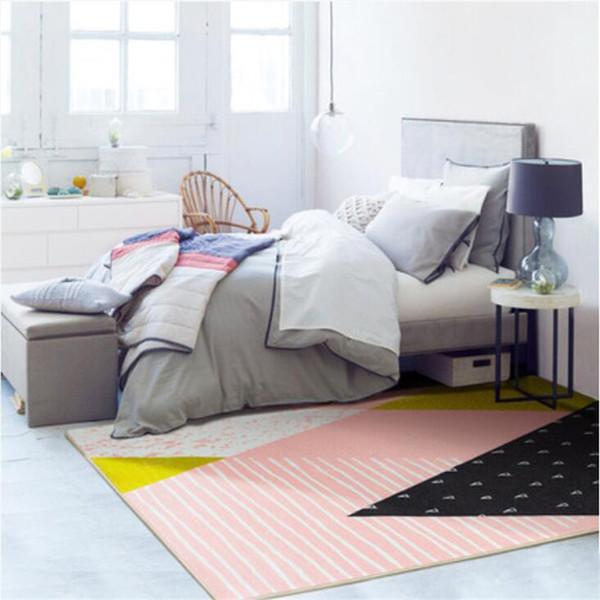 2018 New Cartoon Style Nordic Carpets For Living Room Bedroom Kid Room Rugs Home Carpet Floor Door Mat Fashion Large Area Rug