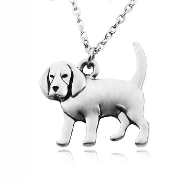 Cute Beagle & Coonhound Dog Charms Pendant Necklaces Boho Stainless Steel Chain Animal Necklace For Women Girl Pet Jewelry Collier Femme