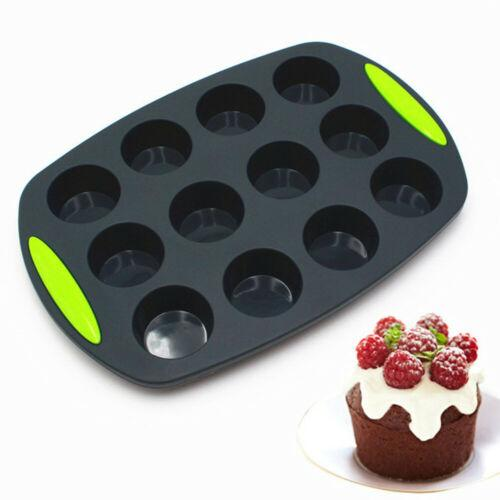 Silicone Baking Pan Muffin Cup Cavity Muffin Bun Cupcake Cookie Chocolate Mould Pan Baking Tray Mold DIY Aid