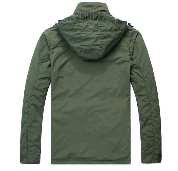 Nova marca Outwear Jacket Men impermeável tático Casacos Softshell Hoodies casaco sobretudo, manga destacável