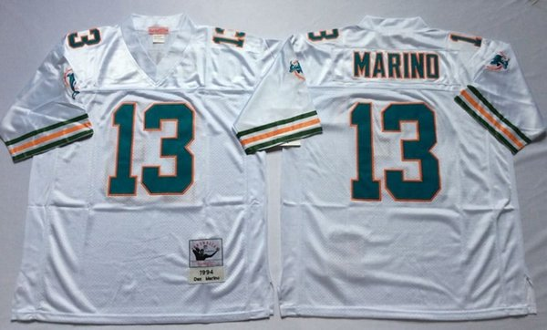 premium selection ae35a 2b5b7 2019 Throwback Vintage Miami Men 13 Dan Marino Jersey Dolphins 12 Bob  Griese 39 Larry Csonka Jerseys Football Uniform Team Green Away White From  ...