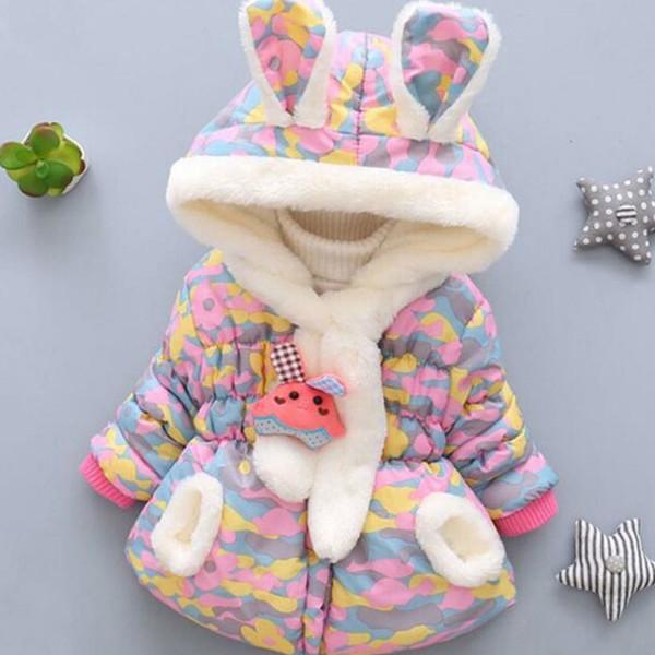 Le ragazze del cappotto ragazze di inverno plaid di modo del rivestimento che si ispessisce più Velvet Velvet Giacca con cappuccio da 0-2 anni del neonato Coat