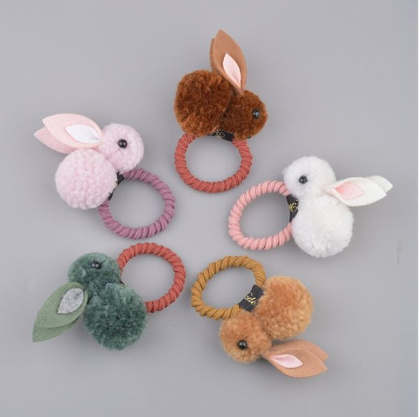 Elastic Cute Girls Animal Cartoon Kids Bow Flower Hair Rope Ties Band Scrunchie