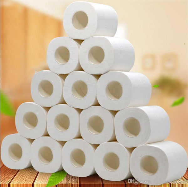 best selling 10 Rolls Fast Shipping Toilet Roll Paper Layers Home Bath Toilet Roll Paper Primary Wood Pulp Toilet Paper Tissue Roll FS9504
