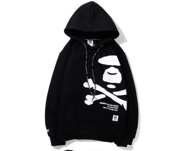 2019 Designer Men Hoodies Fashion Brand Clothing Mastermind Japan Black Print Cotton Pullover Hooded Fleeces Sweatshirt