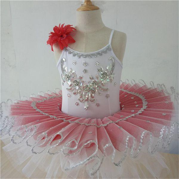 Pink white adults ballet costumes professional ballet tutu kids child women girls ballerina party dress dance costume kids child