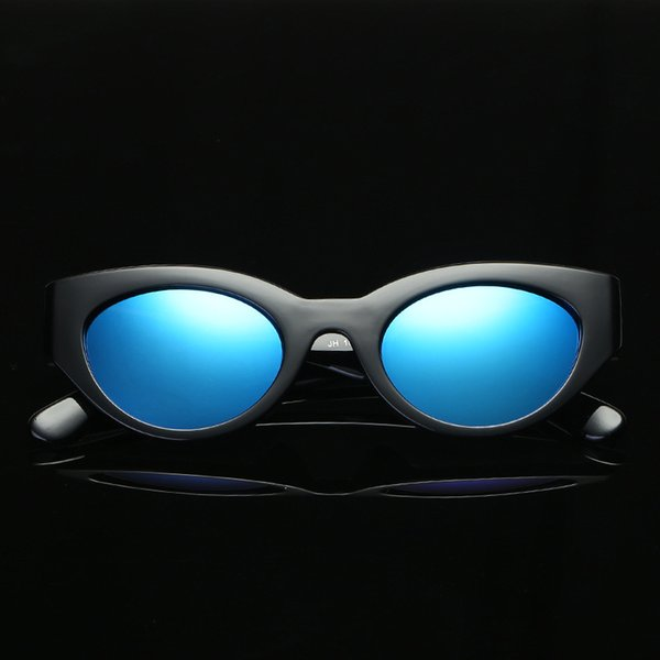 One Free Shipping New Sunglasses European and American Personality Cat Eyes Fashion Colorful 15963 Retro Sunglasses