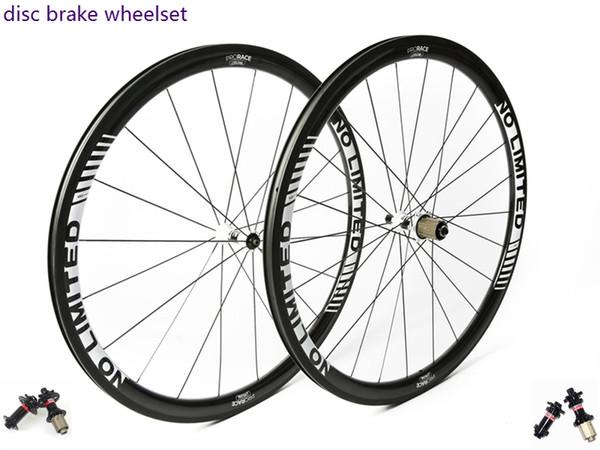 No-limit Disc 35 Road Disc Brake Carbon Laufradsatz, 38mm Drahtreifen / Rohr, 700C Rennradräder, Cyclocross-Rad