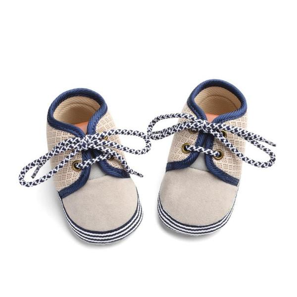 OUTAD bébé nouveau-né Chaussures pour enfants pour nourrissons premiers marcheurs Toolder doux Bas Anti-Slip à lacets Bébés garçons Chaussures Filles Prewalker 3-15 M