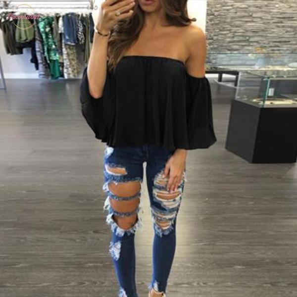 Femmes Mode Chemisier Encolure été Top à manches longues Pull Chemises Chemises Mode New Style