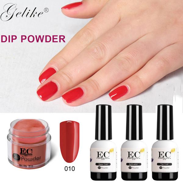 Gel Nail Polish Gelike Acrylic Dip Powder Organic Kit Clear Colors ...