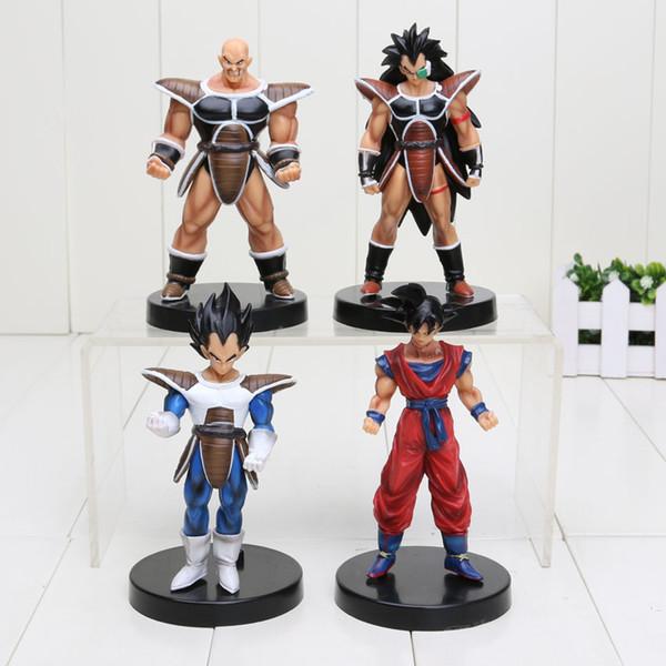 4Pcs /Set 13Cm Anime Dragon Ball Z Action Figures Son Goku Kinyo Vegeta Raditz Nappa Pvc Figure Toys Children Toys