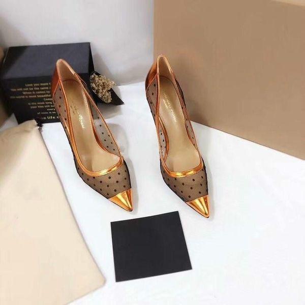 2019 yeni ilkbahar yaz Zarif stilleri kadın ayakkabı 10.5 cm yüksek topuklu kristaller sivri burun mesh kadın kırmızı taban düğün ayakk ...