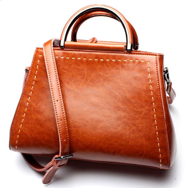 A MELHOR QUALIDADE Designer de Mulheres Bolsa Sacos De Couro Genuíno Bolsas Senhoras Saco de Ombro Portátil Senhoras de Escritório Saco Hobos Retro Totes sacos