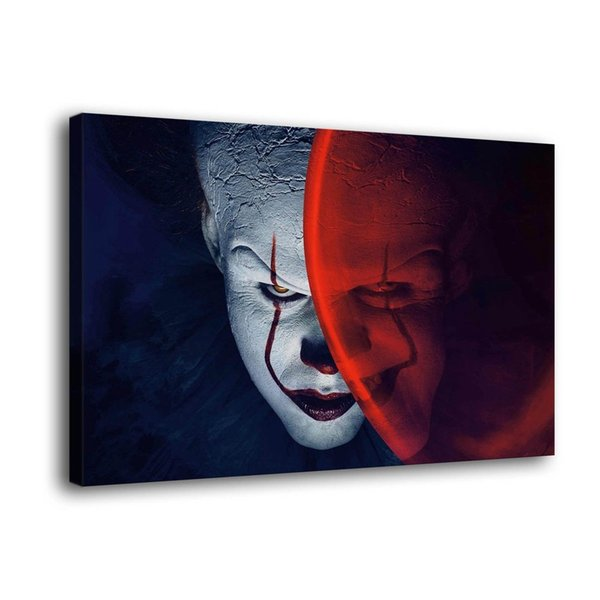 Clown Horror,1 Pieces Canvas Prints Wall Art Oil Painting Home Decor (Unframed/Framed)
