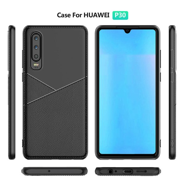 PU Leather Design TPU Cell Phone Cases For Iphone XS Max Samsung Galaxy S10 One Plus 7 Huawei P30 Mate 20 Pro Case