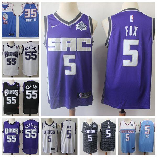 bec5415d51f5 Marvin 35 Bagley III Black Swingman Statement Jersey 5 Fox Basketball  Jerseys