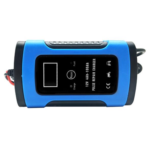 12 V 6A Carregador de Bateria de Carro de Poder Completo Automático Para A Bateria de Chumbo Ácido de Carregamento Auto Motocicleta Display LCD 110 v 220 v